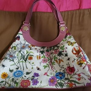 Gucci Floral Canvas Hobo New